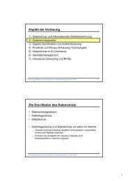 Kapitel der Vorlesung Die Drei-Säulen des Datenschutz