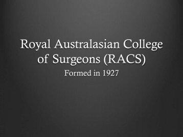 Royal Australasian College of Surgeons - Kebijakan Kesehatan ...