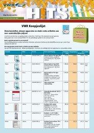 VWR Koopjeslijst