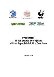 Las organizaciones firmantes del presente documento, tras ... - WWF