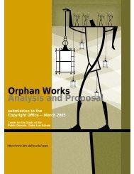 Orphan Works - Duke University School of Law