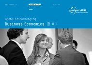 Business Economics - Universität Witten/Herdecke