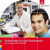 Tarifverträge für dual Studierende – - Hochschulinformationsbuero.de
