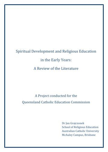 Spiritual Development and Religious Education in the Early Years: A ...