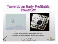 Towards an Early Profitable PowerSat