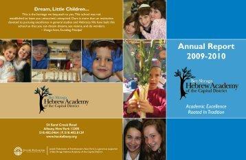 2009-2010 HACD Annual Report - Bet Shraga Hebrew Academy of ...