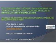 Paul Lewis et autres Groupe de recherche Ville et mobilité