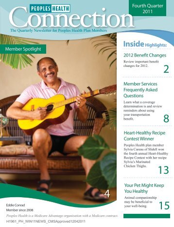 Fourth Quarter 2011 - Peoples Health
