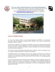 Prospectus - Ali Yavar Jung National Institute for the Hearing ...