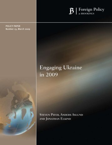 Engaging Ukraine in 2009 - Brookings Institution