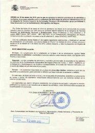 LISTAS PROVISIONALES DE ADMITIDOS Y EXCLUIDOS