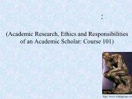 學術研究與道德責任: 進入學術領域的第一課 - 國科會物理研究推動中心