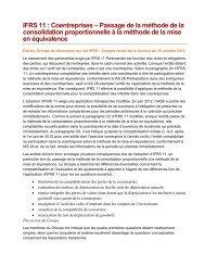 IFRS 11 : Coentreprises - Normes d'information financière et de ...