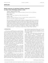 ARTICLES Radial response of individual bubbles ... - Faculty Profiles