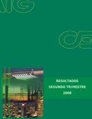 RESULTADOS SEGUNDO TRIMESTRE 2008 - Cemig