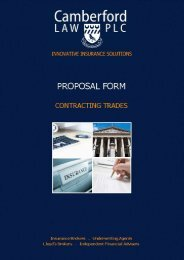 Contracting Insurance - Camberford Law PLC