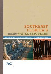 Southeast Florida's Resilient Water Resources - Florida Center for ...