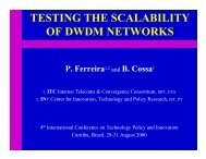 TESTING THE SCALABILITY OF DWDM NETWORKS - In+