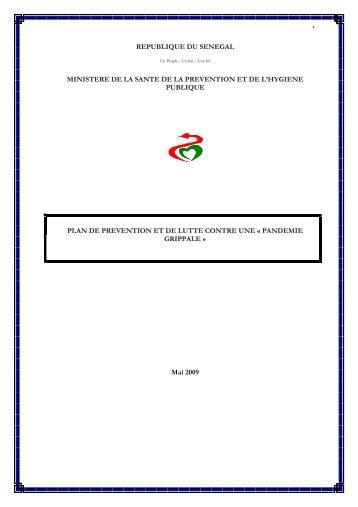 1 republique du senegal ministere de la sante de la prevention et de ...