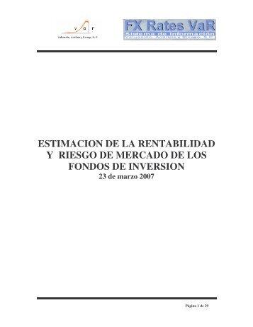 estimacion de la rentabilidad y riesgo de mercado de ... - Var Principal