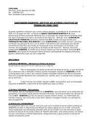 Acordo Aditivo Santander 2006/2007 - Sindicato dos Bancários do ...