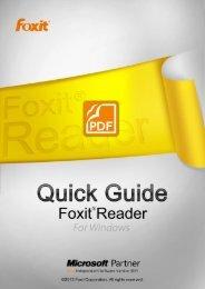 Utilisation de Foxit Reader 6.0