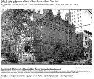 Judge Overturns Landmark Status of Town House on Upper West Side