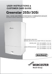User manual for Greenstar Si (manufactured Aug ... - Worcester Bosch
