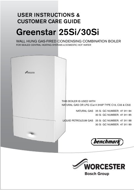 user manual for greenstar si manufactured aug