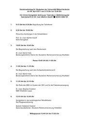 Programm - Universität Witten/Herdecke