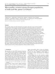 Microsatellite variation among divergent populations of stalk-eyed ...