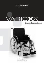 Gebrauchsanweisung - Varioxx Leichtgewichtrollstuhl