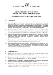 education of persons with autism spectrum disorders - Autism-Europe