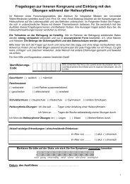 Fragebogen zur Inneren Kongruenz und Einklang mit den Übungen ...