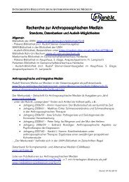 Recherche-Optionen AM 20091230