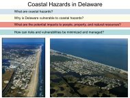 Coastal Hazards in Delaware - Delaware Department of Natural ...