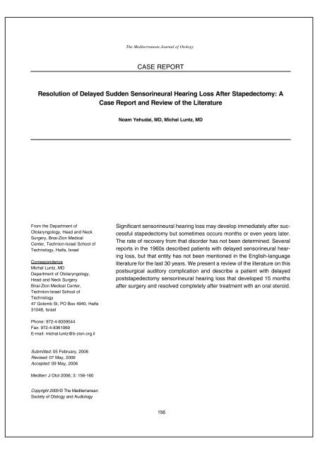 Resolution of delayed sudden sensorineural hearing loss