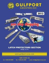 LATCH PROTECTORS SECTION