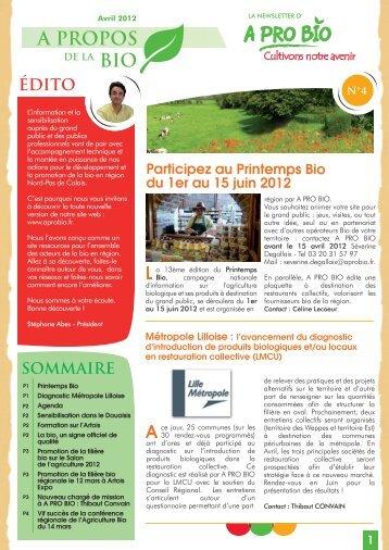 newsletter A pro bio Avril 2012.ai