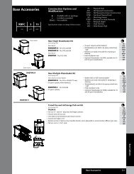 Kraftmaid 024 Base Accessories - Roberts Company, Inc.