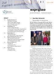 08 01 Expresso - Universität Witten/Herdecke