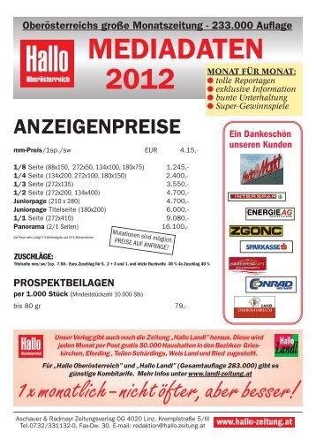Hallo-Mediadaten 2012 neuuu