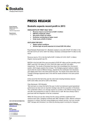 15-08-2013 - Boskalis expects record profit in 2013350 kB