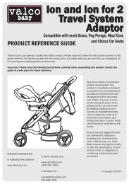 Ion and Ion for 2 Travel System Adaptor - Valco Baby
