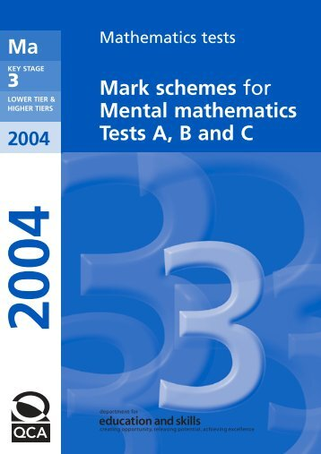 Mark schemes for Mental mathematics Tests A, B and C - Emaths
