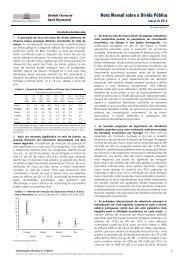 Nota mensal sobre Dívida Pública - março de 2012