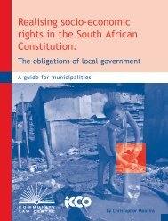 Realising socio-economic rights in the South African Constitution