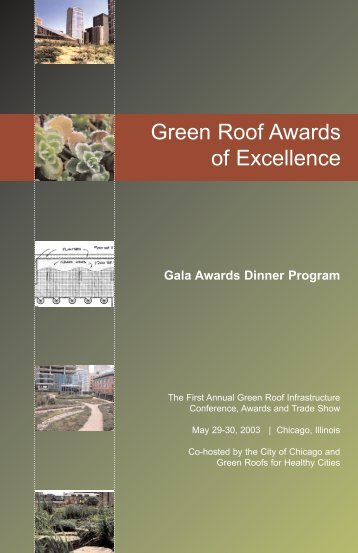 Green Roof Awards of Excellence - Green Roofs for Healthy Cities