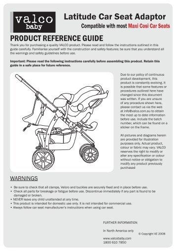 Latitude Car Seat Adaptor - Valco Baby