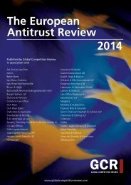 The European Antitrust Review 2014 - ELIG Attorneys at Law